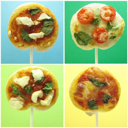 ¿Te animas con estas piruletas pizza para una merienda infantil?