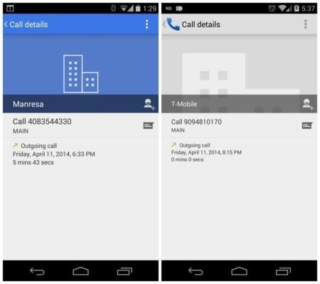 Google le da color al marcador telefónico de Android