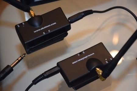 Detalle de los transmisores y los interruptores de encendido y recepción/transmisión