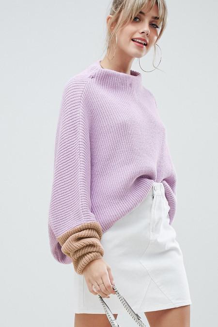 Jersey extragrande en diseño colour block lila de PrettyLittleThing