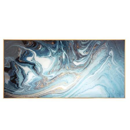 Cuadro Con Estampado Azul Mineral 45x90 1000 0 4 196435 1