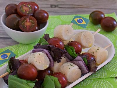 Cocina de Brasil: salada de palmito no espeto o pinchos de ensalada de palmito con mini kumato®