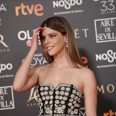 Premios Goya 2019: Manuela Velasco luce radiante un Christian Dior precioso de su desfile más complicado