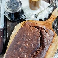 Pastel de chocolate y plátano. Receta fácil