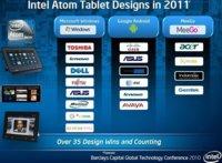 Intel entrará fuerte en el mercado de tablets: ya tienen 35 diseños preparados para 2011