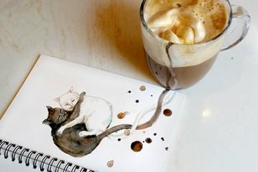¿Manchas de café o arte con café?