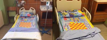 Un padre crea sábanas con diseños de juegos, para los niños que estén ingresados en hospitales o que deban hacer reposo en cama