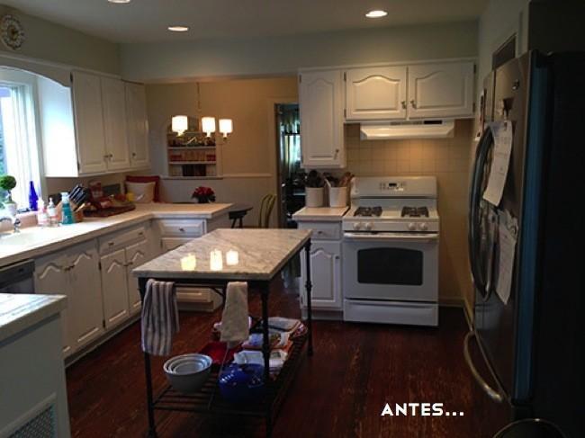 Antes y despu s una reforma en la cocina que sorprende for Cocinas antes y despues