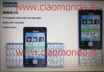 Nokia C2, un teléfono con pantalla giratoria