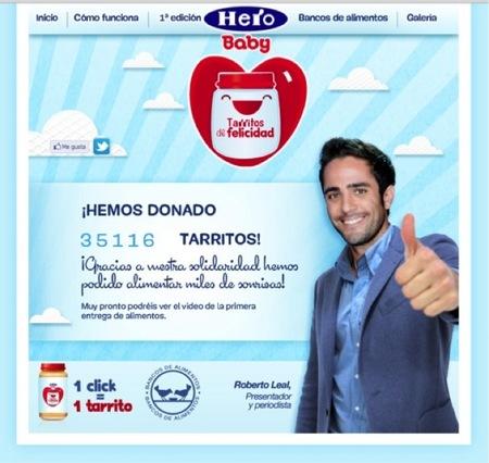 Hero Baby dona más de 35.000 Tarritos de felicidad al Banco de Alimentos