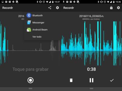 Recordr, la mejor aplicación para grabar audio para Android es gratuita y muy completa