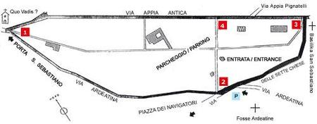 Plano Catacumbas Roma