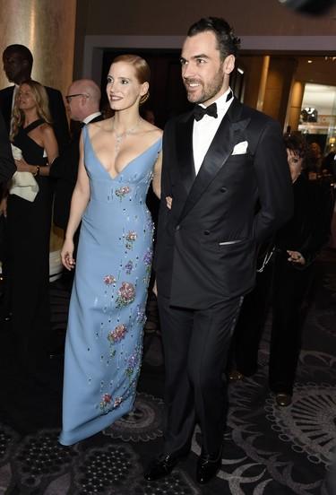 Jessica Chastain se da el 'sí quiero' en Italia vestida con un diseño de Armani