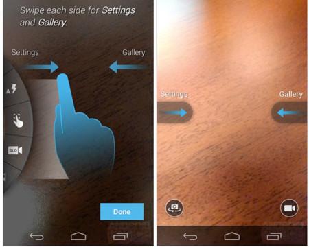 Una interfaz de la cámara basada en gestos para el Motorola Moto X