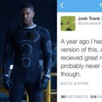 'Cuatro Fantásticos': Josh Trank responde a las críticas culpando a Fox del desastre
