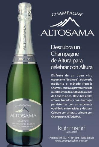 Altosama, el primer champagne boliviano