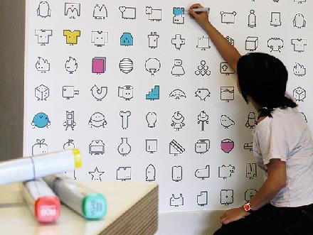 Icons Wall Tiles, iconos por las paredes