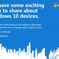 Microsoft celebrará un evento el 6 de octubre, ¿nuevos Lumia y Surface en camino?