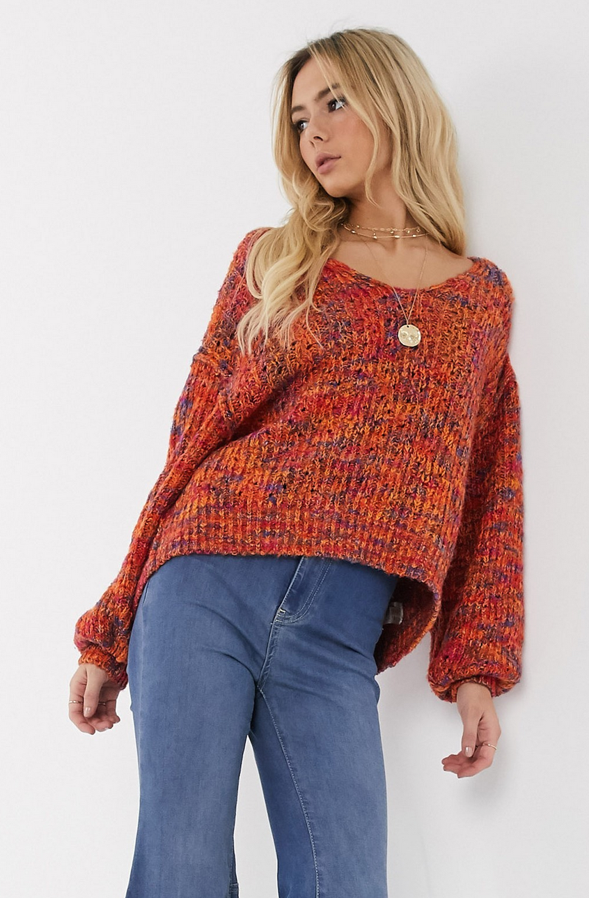 Jersey con cuello en V Highland de Free People