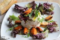 Mousse de ventresca de atún en ensalada. Receta de Navidad para embarazadas