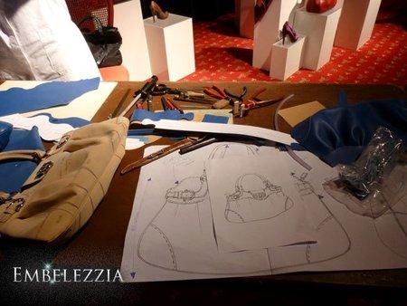 Cómo Salvatore Ferragamo realiza sus bolsos, paso a paso. Expositor en Excellence Fair 2010