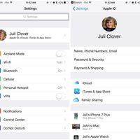 iOS 10.3 nos traerá un nuevo panel para configurar nuestro Apple ID y gestionar el almacenamiento de iCloud