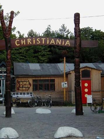 La Ciudad libre de Christiania en Copenhague (Dinamarca)