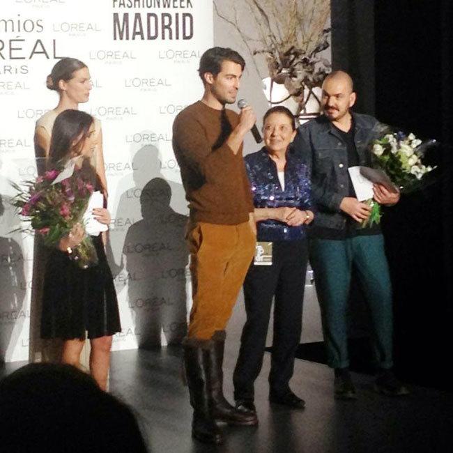 Antonio Navas recoge el Premio L'Oréal a Mejor Modelo de la Mercedes-Benz Fashion Week Madrid