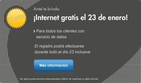 La telefónica uruguaya ofrece hoy Internet gratis en solidaridad con los que defienden la libertad digital