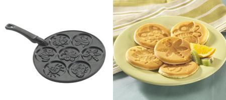 Sartén-molde para decorar las tortitas