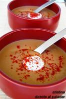 Crema fría de berenjenas al curry. Receta