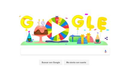 Google celebra su cumpleaños con un doodle: ruleta rusa y juegos para todos