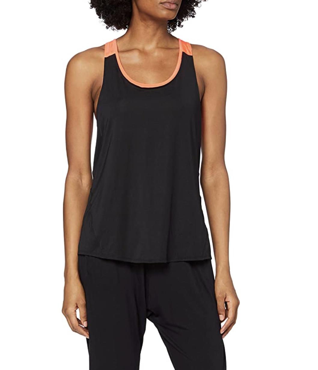 Marca Amazon - AURIQUE Camiseta Deportiva de Doble Capa Mujer