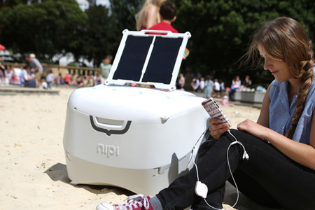Hielera inteligente Nipi, con cargador solar