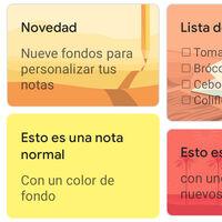 Google Keep estrena nuevos fondos: así puedes personalizar tus notas añadiendo una imagen de fondo