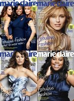Lea Michele, Amber Riley y Dianna Agron: o se aprietan un poco o no caben en la portada de Marie Claire