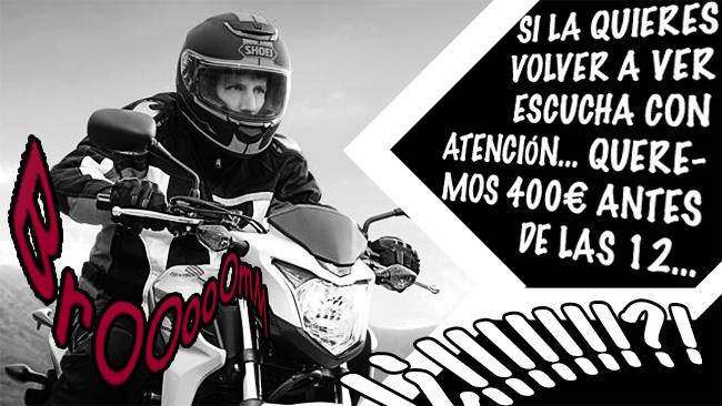 Honda CB500S secuestrada