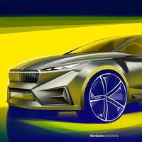 Škoda desvela los primeros bocetos del Vision iV Concept, la antesala de su nuevo coche eléctrico