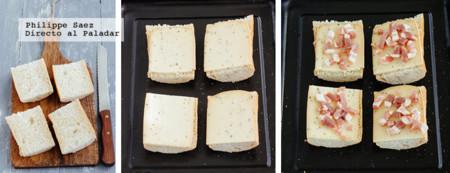 Tostadas Raclette Tocino Prep