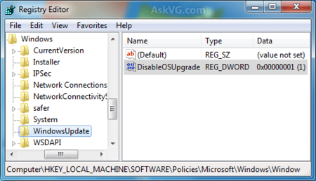 Disable Windows 10 Upgrade Windows 7