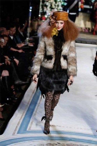 Lanvin HM, colección Alta Costura, vestido pieles