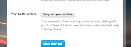 Twitter archives download