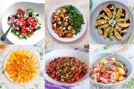 19 recetas de ensaladas frías ideales para cuando aprieta el calor