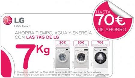 LG presenta sus lavadoras de 'Los del 7'
