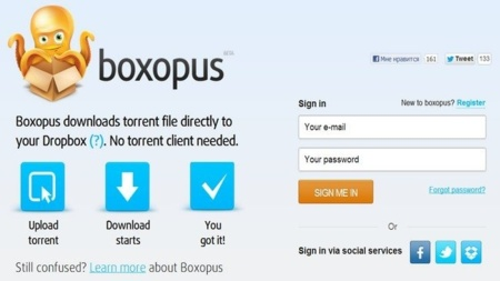 Boxopus, descarga torrents directamente en tu carpeta de Dropbox