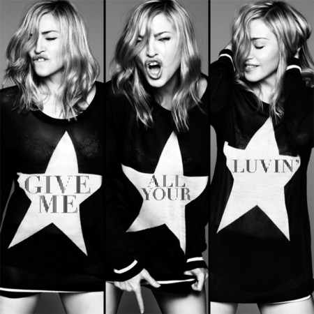 ¡Madonna al cubo en la portada de 'Give me all your luvin'!