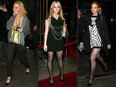 Lindsay Lohan y sus sandalias Miu Miu