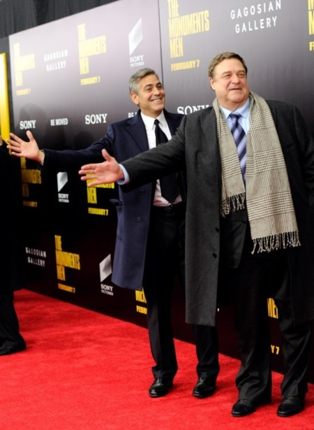 La mujer de moda, Cate Blanchett, conquista la premiere de George Clooney y su The Monuments Men
