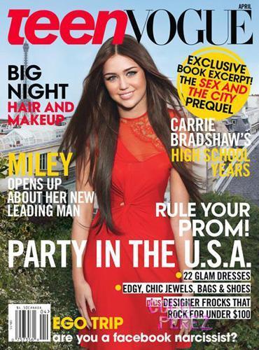 Miley Cyrus y Liam Hemsworth, dos enamorados en Teen Vogue
