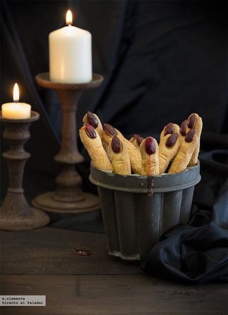 Dedos de bruja. Receta para Halloween